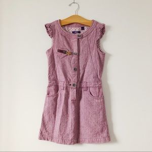 Mec 100%coton purple pink dress